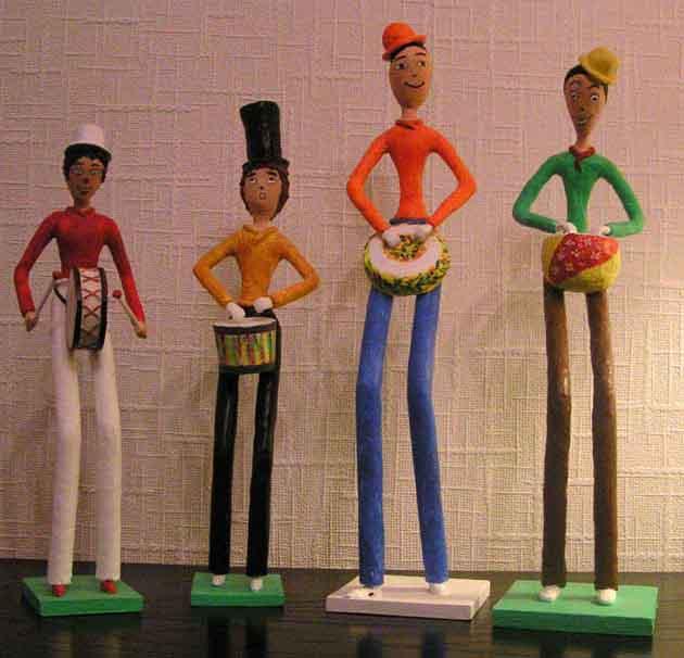 figurine papier mache peinture art creation